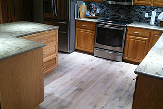 Engineered Hardwood completed by Floors & More Abbey Flooring