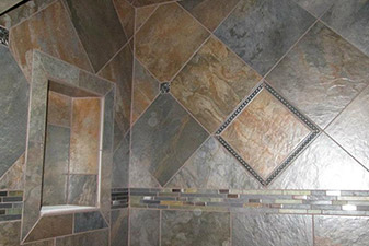 Tile Shower Project completed by Floors & More Abbey Flooring